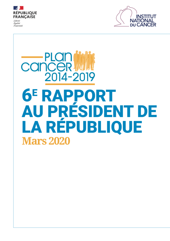 6ème Rapport Plan Cancer 2014-2019