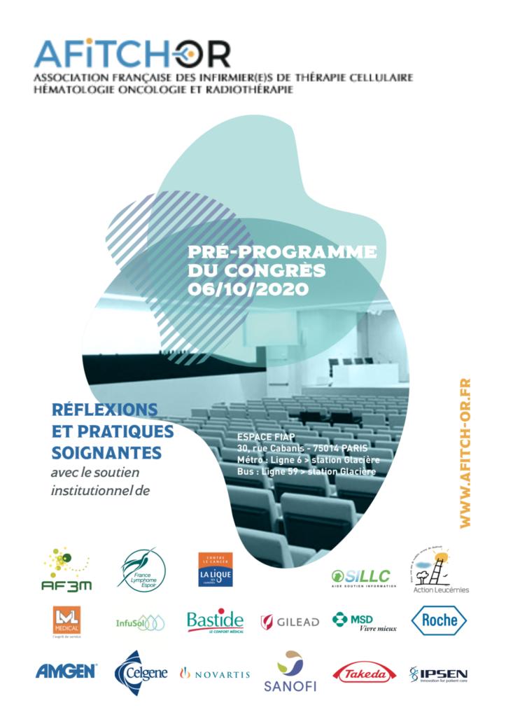 Congrès AFITCH-OR 2020 Pré-programme