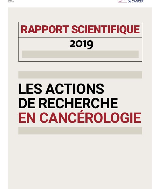 Rapport scientifique INCa 2019