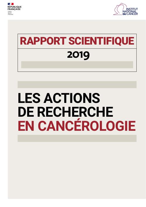 Rapport scientifique INCa 2019