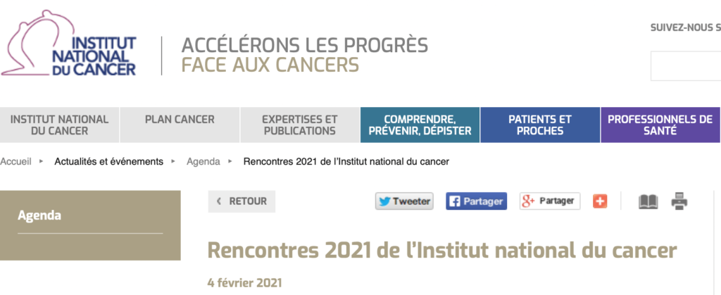 Rencontres de l'Institut national du cancer 2021