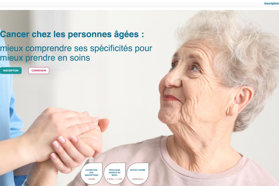 Accueil MOOC Cancer personnes âgées