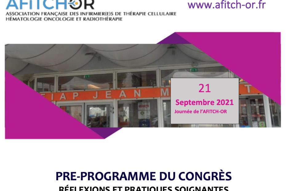 Pré-programme Congrès AFITCH-OR 21 septembre 2021