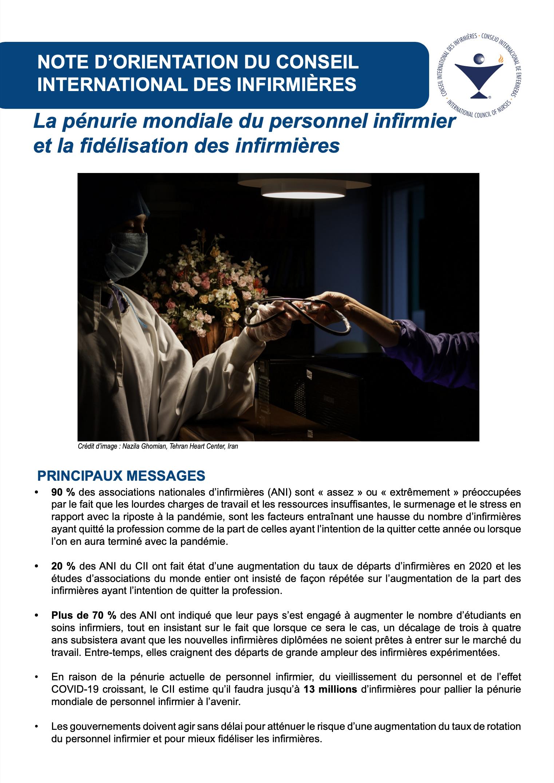 Note d'orientation du Conseil International des Infirmières - COVID 2021