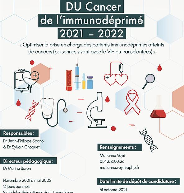 DU Cancer de l'immunodéprimé 2021