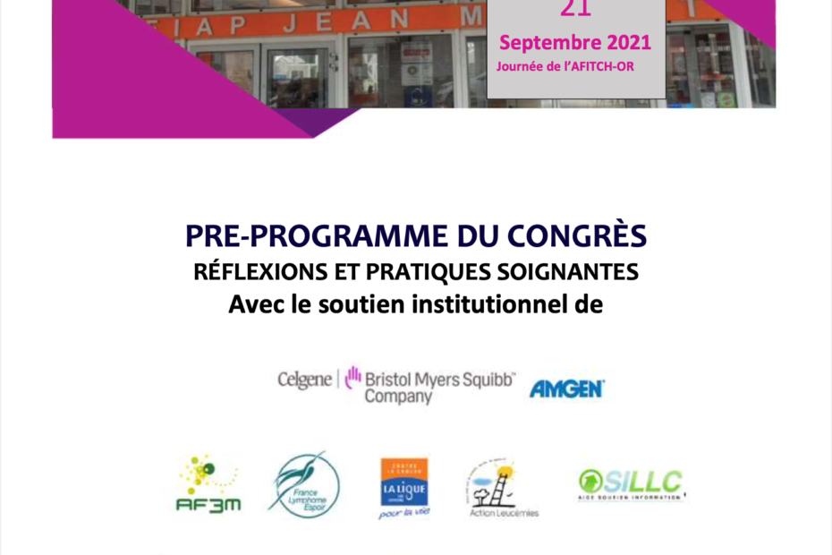 Programme Congrès AFITCH-OR 2001