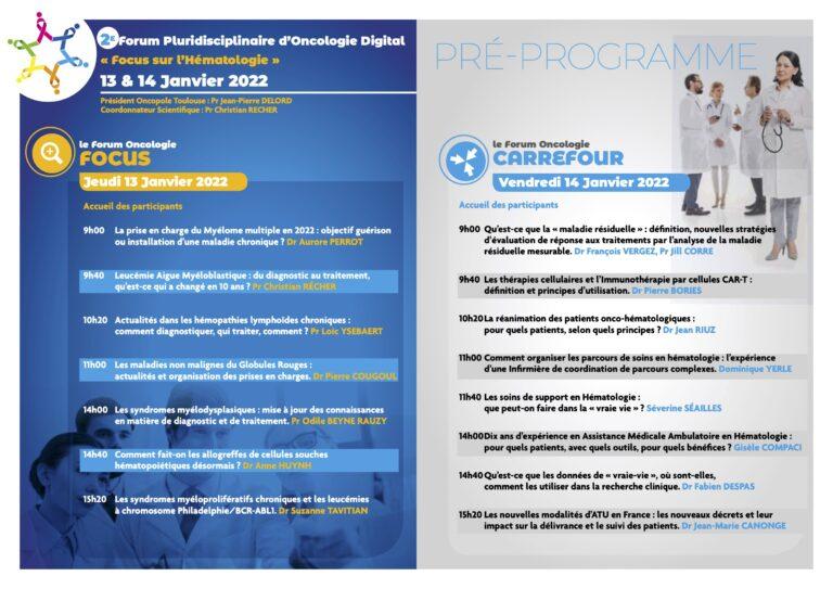 20220113-14 2e Forum Pluridisciplinaire Oncologie Digital -pré-programme